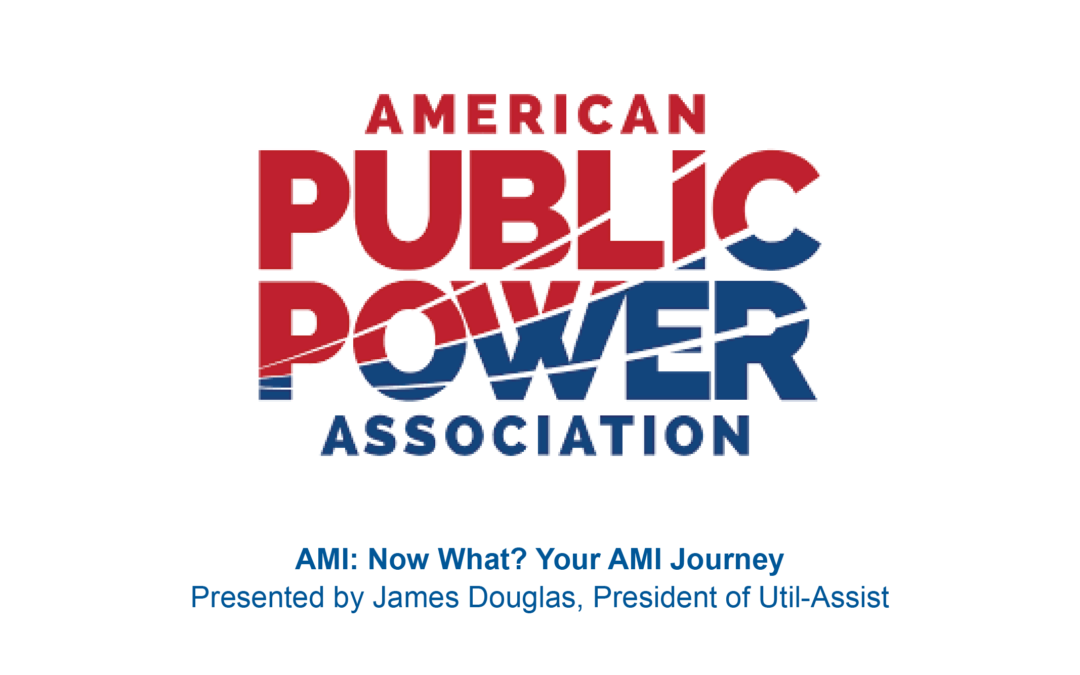 The AMI Journey: APPA Customer Connections Conference